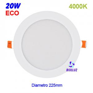 DOWNLIGHT LED 20W EXTRAPLANO BLANCO 4000K