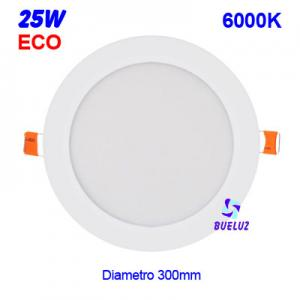 Downlight LED 25W extraplano Blanco 6000K