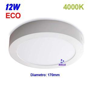 Downlight superficie redondo LED 12W 4000K