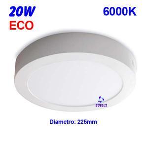 Downlight superficie redondo LED 20W 6000K -