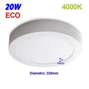 Downlight superficie redondo LED 20W 4000K -