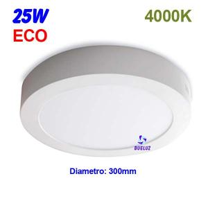 Downlight superficie redondo LED 25W 4000K -