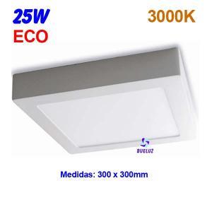 Downlight superficie cuadrado LED 25W 3000K -