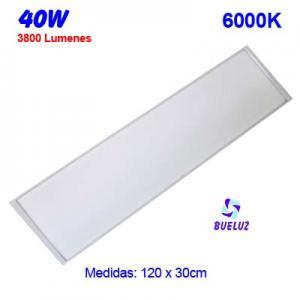 PANEL LED 120x30cm 40W 6000K COLOR BLANCO