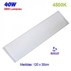 PANEL LED 120x30cm 40W 4500K COLOR BLANCO