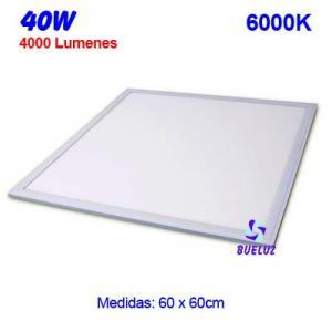 PANEL LED 60x60cm 40W 6000K COLOR BLANCO