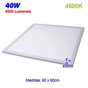 PANEL LED 60x60cm 40W  4500K COLOR BLANCO