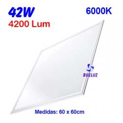 PANEL LED 60x60cm 42W  6000K COLOR BLANCO (PACK-2UND)