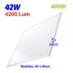 PANEL LED 60x60cm 42W  4000K COLOR BLANCO (PACK-2UND)