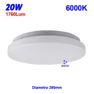 PLAFON LED 20W 6000K
