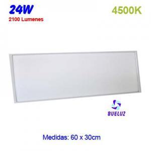 PANEL LED 60x30cm 24W 4500K COLOR BLANCO