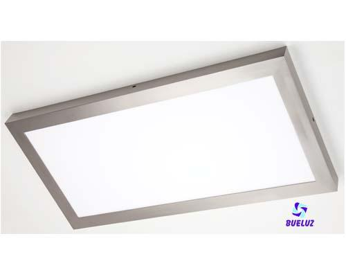 Pantalla LED Superficie 24W 4200K Niquel Satinado