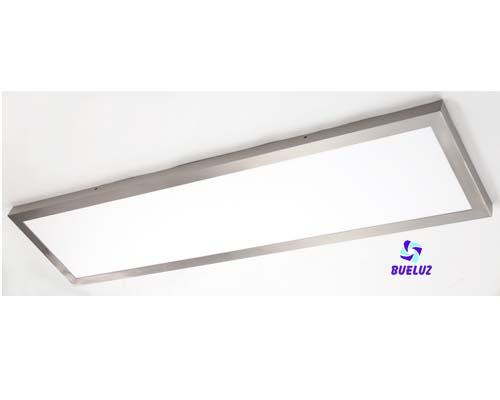 Pantalla LED Superficie 48W 4200K Niquel Satinado -