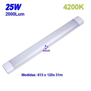 Regleta Led superficie 25W 4200K