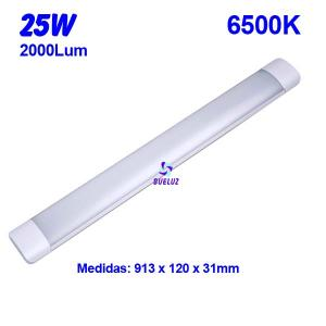 Regleta Led superficie 25W 6500K