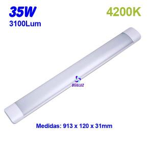 Regleta Led superficie 35W 4200K