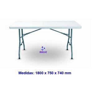 Mesa plegable polietileno 1,80cm