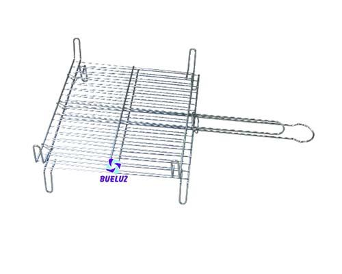 Parrilla doble acero 30x35cm. -