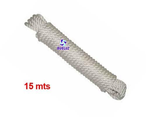 Cuerda cableada 5mm 15 metros Blanca  -