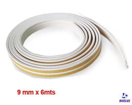Burlete caucho adhesivo 9mm Blanco -