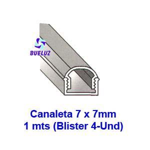 Canaleta PVC Adhesiva 7 x 7mm (1mts)Blanco -