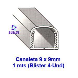 Canaleta PVC Adhesiva 9 x 9mm (1mts)