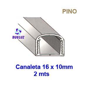 Canaleta PVC Adhesiva 16 x 10mm (2mts) Pino