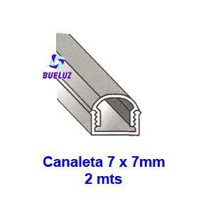 Canaleta PVC Adhesiva 7 x 7mm (2mts) Blanco -