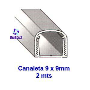 Canaleta PVC Adhesiva 9 x 9mm (2mts)