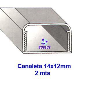 Canaleta PVC Adhesiva 14 x 12mm (2mts)