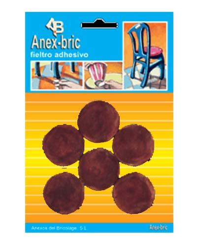 Fieltro 6 discos 31mm marrón -