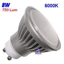 Dicroica Led GU-10 8W 6000K 120º Aluminio -