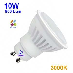 Dicroica Led GU-10 10W 3000K 120º Ceramica -