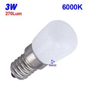 LAMPARA PEBETERO LED E-14 3W 6000K