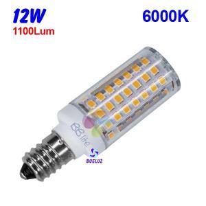 TUBULAR LED E-14 12W 6000ºK