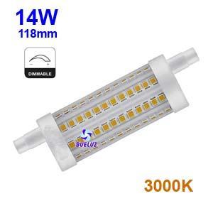 Lampara Lineal LED 118mm 14W 3000K REGULABLE apertura 360º