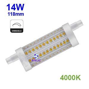 Lampara Lineal LED 118mm 14W 4000K REGULABLE apertura 360º