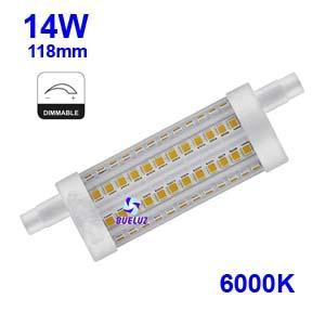 Lampara Lineal LED 118mm 14W 6000K REGULABLE apertura 360º