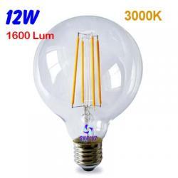 GLOBO LED TRANSPARENTE 125mm 12W E-27 3000K