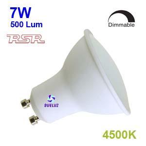 Dicroica Led GU-10 7W 4500K 110º REGULABLE