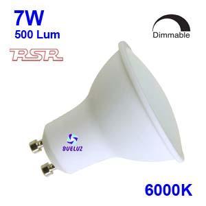 Dicroica Led GU-10 7W 6000K 110º REGULABLE