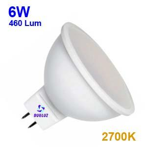 Dicroica Led MR16 6W 2700K 110º -