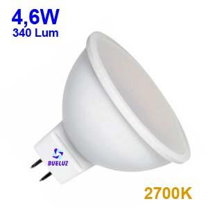 Dicroica Led MR16 4,6W 2700K 120º -