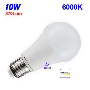 Standar LED E-27 10W Mate Regulable 6500ºK