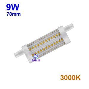Lampara Lineal LED 78mm 9W 3000K apertura 360º