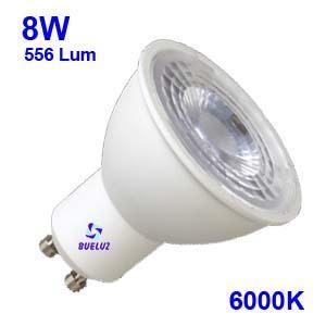 Dicroica LED GU-10 8W 6000K 50º Apertura -