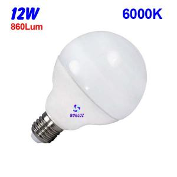 GLOBO LED 12W 90mm E-27 6000º K