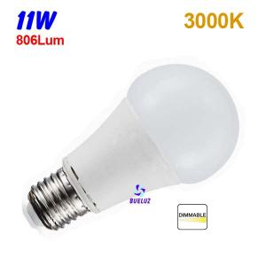 Standar LED E-27 11W Mate Regulable 3000ºK