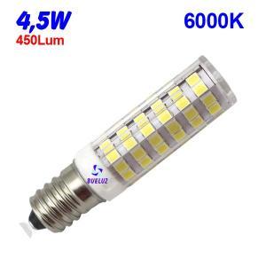 TUBULAR LED E-14 4,5W 6000K