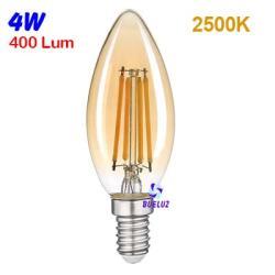 Lampara Vela LED E-14 Vintage 5W 2500K